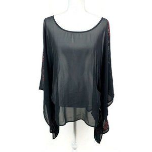 Lane Bryant 26/28 Sheer Butterfly Wing Top 26/28